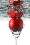 Φρούτα martini στο γυαλί Στοκ Εικόνες