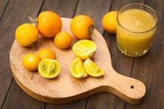 Φρούτα Naranjilla ή Lulo Στοκ Φωτογραφία