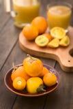 Φρούτα Naranjilla ή Lulo Στοκ Φωτογραφίες