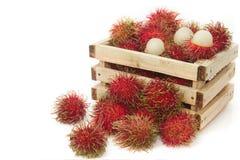 Φρούτα Rambutan, ταϊλανδικά φρούτα Στοκ Εικόνες
