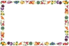 Φρούτων και λαχανικών πορτοκάλι μήλων πλαισίων copyspace απομονωμένο fres Στοκ εικόνες με δικαίωμα ελεύθερης χρήσης