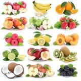 Φρούτων φρέσκο strawber μπανανών πορτοκαλιών μήλων μούρων μήλων πορτοκαλί Στοκ Εικόνες