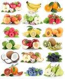 Φρούτων φρέσκο strawber μπανανών πορτοκαλιών μήλων μούρων μήλων πορτοκαλί Στοκ εικόνα με δικαίωμα ελεύθερης χρήσης