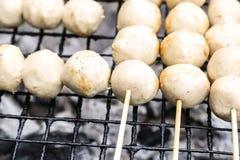 Φρυγανιά κεφτών χοιρινού κρέατος στα κάγκελα Στοκ εικόνα με δικαίωμα ελεύθερης χρήσης