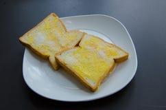 Φρυγανιά με το βούτυρο και τη ζάχαρη Whith Στοκ φωτογραφία με δικαίωμα ελεύθερης χρήσης