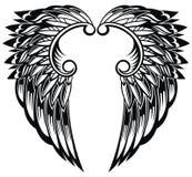 Φτερά αγγέλου που απομονώνονται στο άσπρο υπόβαθρο διανυσματική απεικόνιση