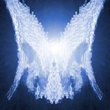 φτερά αγγέλου cyber διανυσματική απεικόνιση