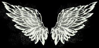 Φτερά αγγέλου στο Μαύρο στοκ φωτογραφίες