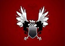 φτερά ασπίδων Στοκ εικόνα με δικαίωμα ελεύθερης χρήσης