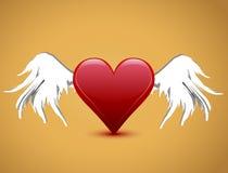 φτερά βαλεντίνων καρδιών s η&mu Στοκ φωτογραφία με δικαίωμα ελεύθερης χρήσης
