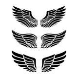 Φτερά για την οικοσημολογία, δερματοστιξίες, λογότυπα Στοκ φωτογραφία με δικαίωμα ελεύθερης χρήσης