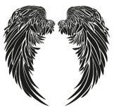 φτερά διανυσματικό λευκό καρ&chi μαύρο λευκό Στοκ Φωτογραφίες