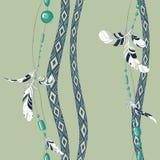Φτερά και χάντρες Dreamcatcher Στοκ εικόνα με δικαίωμα ελεύθερης χρήσης