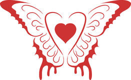 φτερά καρδιών Στοκ φωτογραφία με δικαίωμα ελεύθερης χρήσης