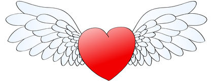 φτερά καρδιών Στοκ Εικόνα