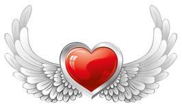 φτερά καρδιών διανυσματική απεικόνιση