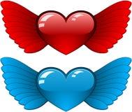 φτερά καρδιών Στοκ εικόνες με δικαίωμα ελεύθερης χρήσης