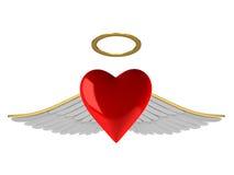 φτερά καρδιών απεικόνιση αποθεμάτων