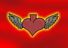 φτερά καρδιών Στοκ φωτογραφίες με δικαίωμα ελεύθερης χρήσης