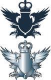 Φτερά κορωνών και σιδήρου Στοκ Εικόνα