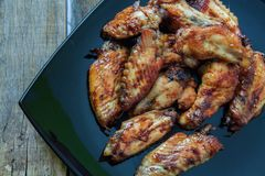 Φτερά κοτόπουλου ύφους Bufalo Στοκ Φωτογραφία