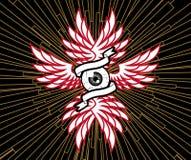 φτερά ματιών Στοκ εικόνα με δικαίωμα ελεύθερης χρήσης