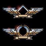 φτερά μετάλλων Στοκ Φωτογραφίες