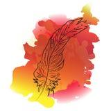 Φτερά με το υπόβαθρο watercolor Στοκ Φωτογραφίες