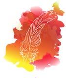 Φτερά με το υπόβαθρο watercolor Στοκ φωτογραφίες με δικαίωμα ελεύθερης χρήσης