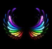 Φτερά ουράνιων τόξων διανυσματική απεικόνιση