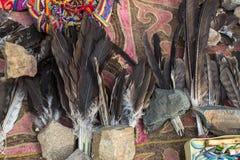 Φτερά πουλιών ` s για το κυνήγι με τους αετούς Στοκ Εικόνες