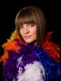 φτερά που φορούν τις νεολαίες γυναικών στοκ φωτογραφίες με δικαίωμα ελεύθερης χρήσης