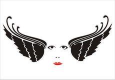 φτερά προσώπου Στοκ εικόνα με δικαίωμα ελεύθερης χρήσης