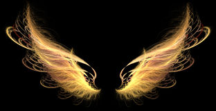 φτερά πυρκαγιάς δαιμόνων Στοκ Εικόνες