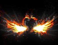 φτερά πυρκαγιάς Στοκ εικόνα με δικαίωμα ελεύθερης χρήσης