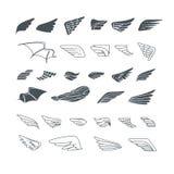 φτερά στοιχεία σχεδίου που τί&th επίσης corel σύρετε το διάνυσμα απεικόνισης Στοκ Εικόνες