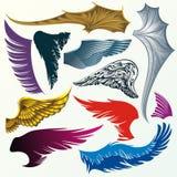 Φτερά διανυσματική απεικόνιση