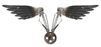 Φτερά Steampunk που απομονώνονται Στοκ Εικόνα