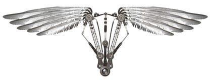 Φτερά Steampunk που απομονώνονται Στοκ εικόνες με δικαίωμα ελεύθερης χρήσης