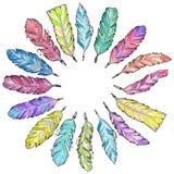 Φτερά Watercolor καθορισμένα Στοκ εικόνες με δικαίωμα ελεύθερης χρήσης