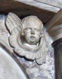 Φτερωτός άγγελος στο εσωτερικό του παρεκκλησιού της εκκλησίας Αγίου marys στο warwick στην Αγγλία Στοκ Εικόνες