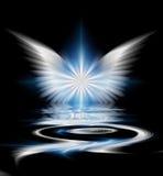 Φτερωτός σκοτεινός διανυσματική απεικόνιση