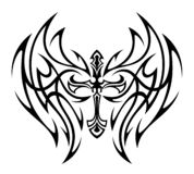 Φτερωτός σταυρός δερματοστιξιών απεικόνιση αποθεμάτων