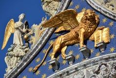 Φτερωτό λιοντάρι σημαδιών Αγίου της Βενετίας Στοκ Εικόνες