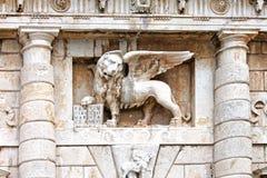 Φτερωτό λιοντάρι σημαδιών του ST σε Zadar, Κροατία Στοκ εικόνες με δικαίωμα ελεύθερης χρήσης