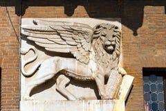 Φτερωτό λιοντάρι σημαδιών του ST στη Βερόνα - την Ιταλία Στοκ φωτογραφία με δικαίωμα ελεύθερης χρήσης