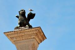 Φτερωτό λιοντάρι, σύμβολο της Βενετίας Στοκ Φωτογραφία