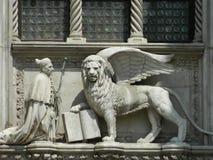 Φτερωτό λιοντάρι, σύμβολο της Βενετίας Στοκ Φωτογραφίες
