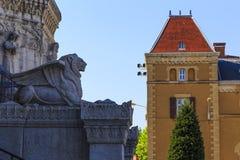 Φτερωτό λιοντάρι της Λυών Στοκ φωτογραφία με δικαίωμα ελεύθερης χρήσης