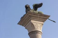 Φτερωτό λιοντάρι στη Βενετία Ιταλία Ευρώπη Στοκ φωτογραφία με δικαίωμα ελεύθερης χρήσης